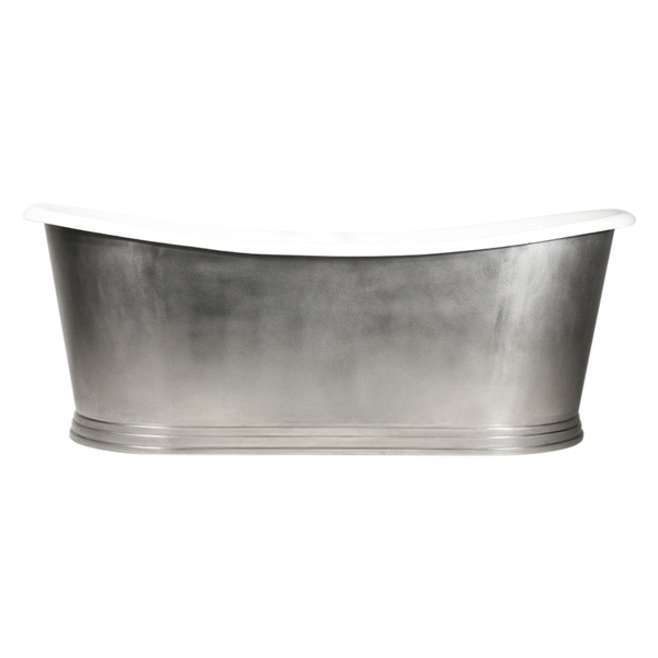 The Hamilton59 59 Quot Cast Iron French Bateau Tub With